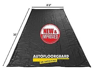"AutoFloorGuard AFG8520 Black 8'6"" x 20' SUV/Truck Size Containment Mat"