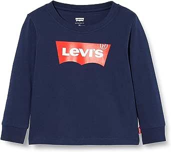 Levi's Kids Camiseta de manga larga azul para Bebé-Niños