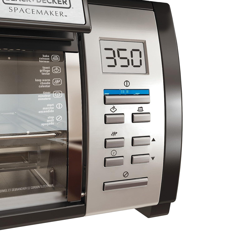 Best Under Cabinet Toaster Oven Amazoncom Black Decker Tros1000d Spacemaker Under The Cabinet 4