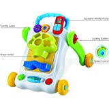BAYBEE 2 in 1 Sit-to-Stand Learning Push and Pull Walker for Baby, 1 Year(Yellow)