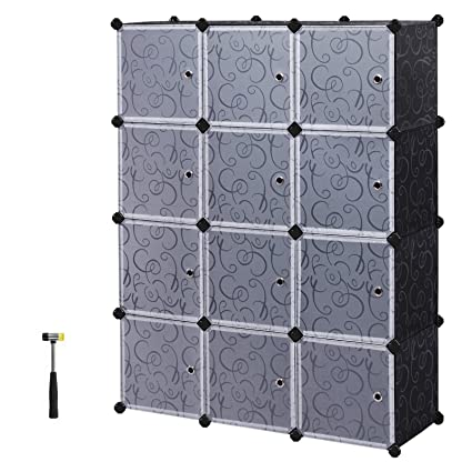 Amazon Songmics Storage Cube Plastic Wardrobe Cabinet Diy