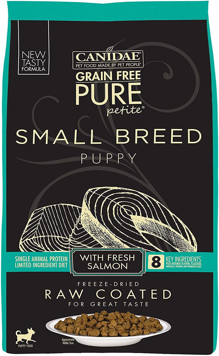 Canidae Pure Petite Raw Coated Puppy Salmon 10Lb