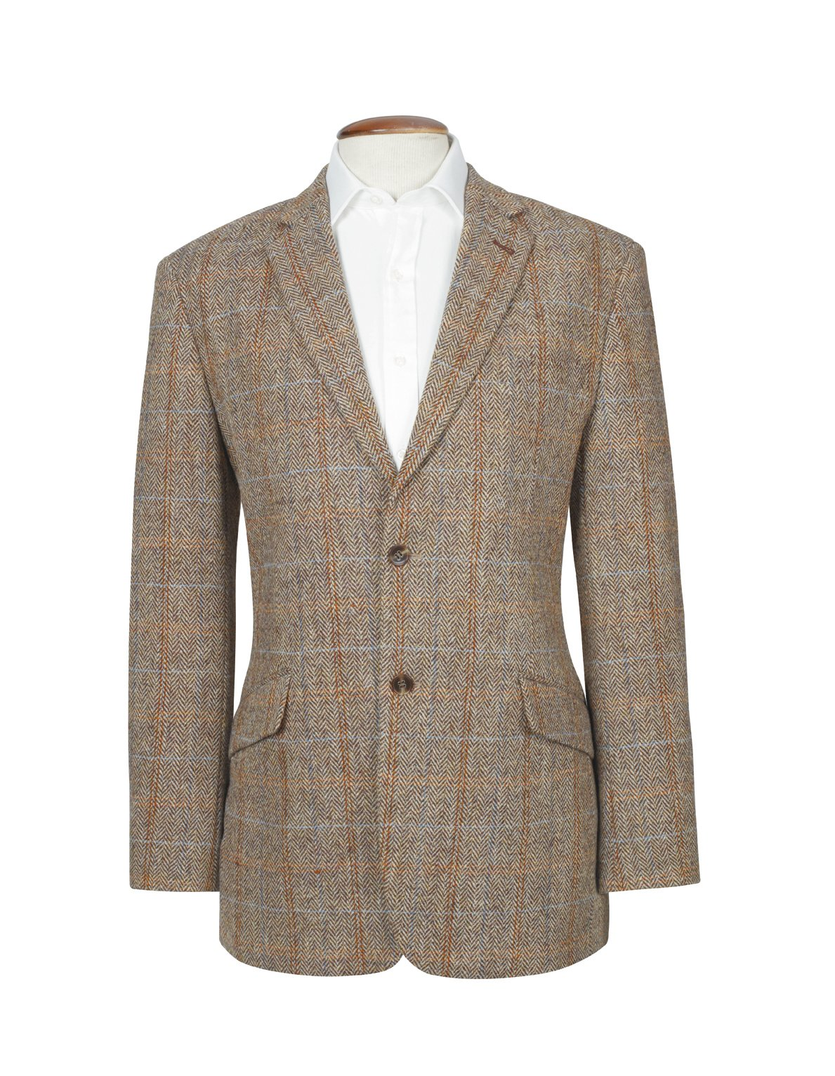 The Fine Swine Men's Harris Tweed Jacket Hamish 40 Long Brown mix by Harris Tweed and The Fine Swine (Image #1)