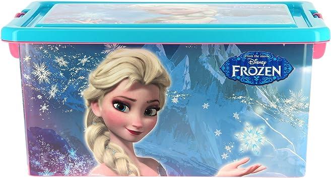 Disney Frozen Contenedor 13 litros con Tapa y Cierres, Caja ...