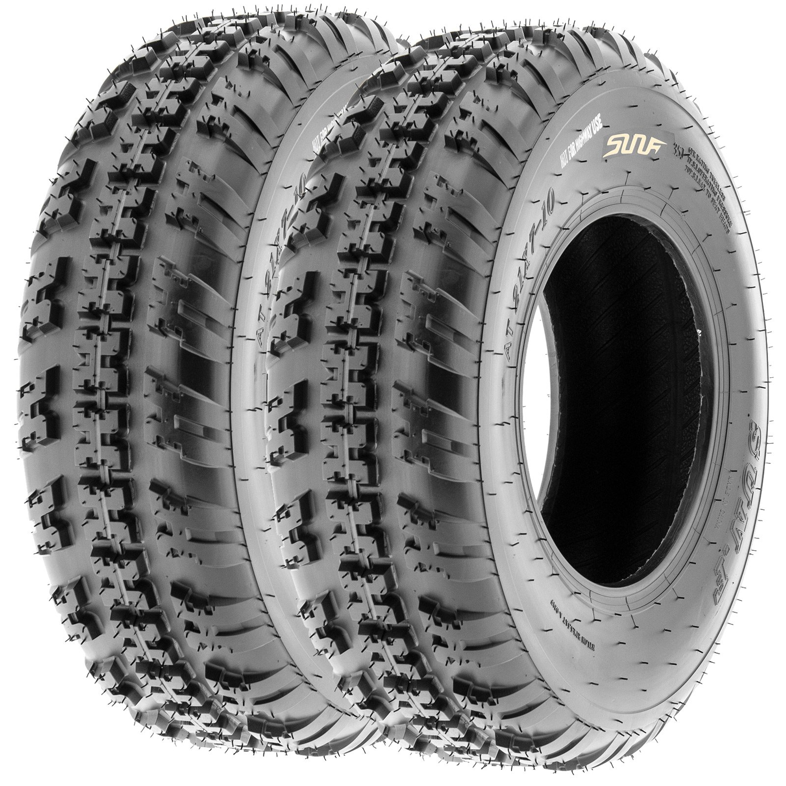 SunF Knobby Sport ATV Tires 20x6-10 & 18x10-8 4/6 PR A031 (Complete set of 4) by SunF (Image #3)