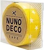 KAWAGUCHI(カワグチ) NUNO DECO TAPE ヌノデコテープ 1.5cm幅 1.2m巻 きいろスター 11-858