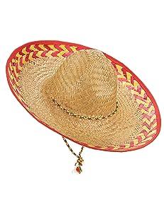 Vegaoo - Sombrero Mexicano Adulto Paja - Única