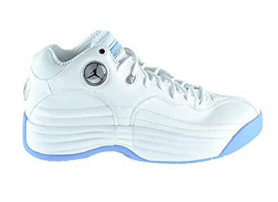 8167733e678436 Jordan Jumpman Team 1 Men s Basketball Shoes White Black-University Blue-Wolf  Grey