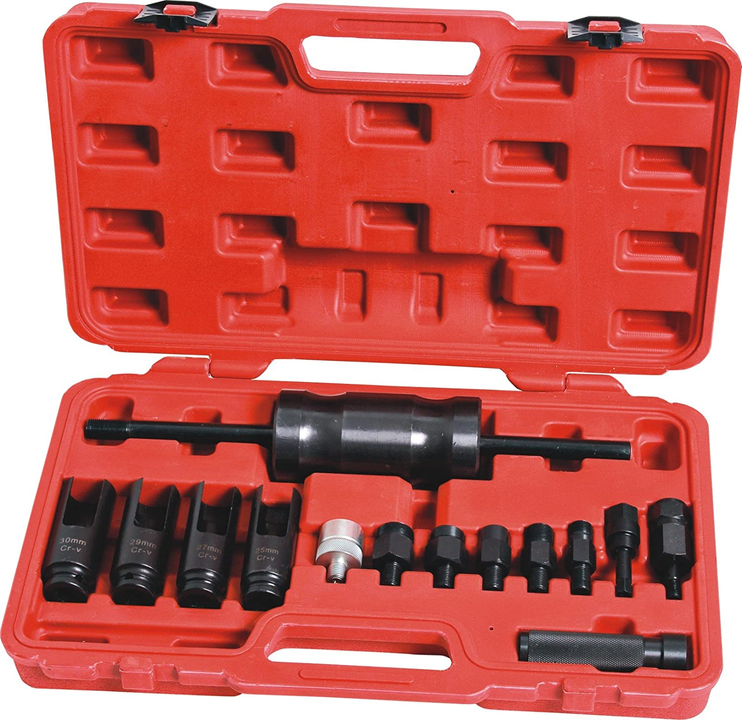 Diesel Injector Extractor Puller With Common Rail Adaptor Slide Hammer Removal Tool Kit Generic