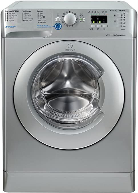 Indesit Innex BWA 81483X S UK Washing Machine - Silver [Energy Class A+++]