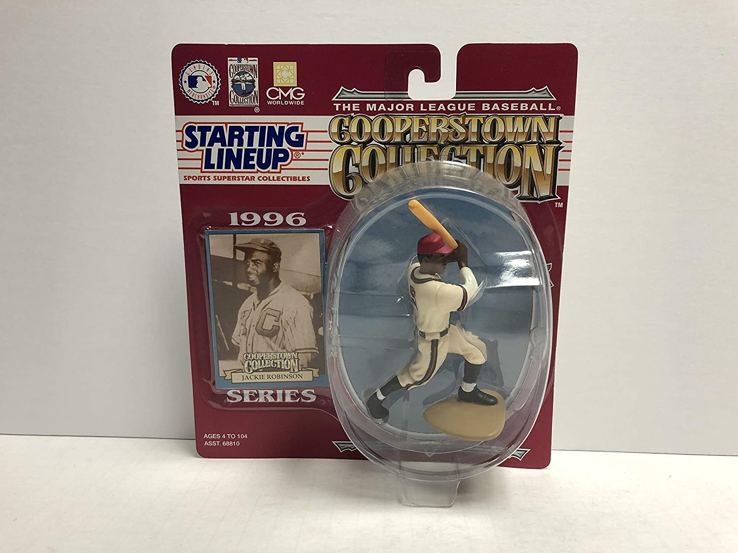 Jackie Robinson Brooklyn Dodgers Kansas City Monarchs HOF Collectible Toy Action Figure with Trading Card