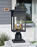 Zeyu 2-Light Outdoor Post Lantern Lamp, 17 inches