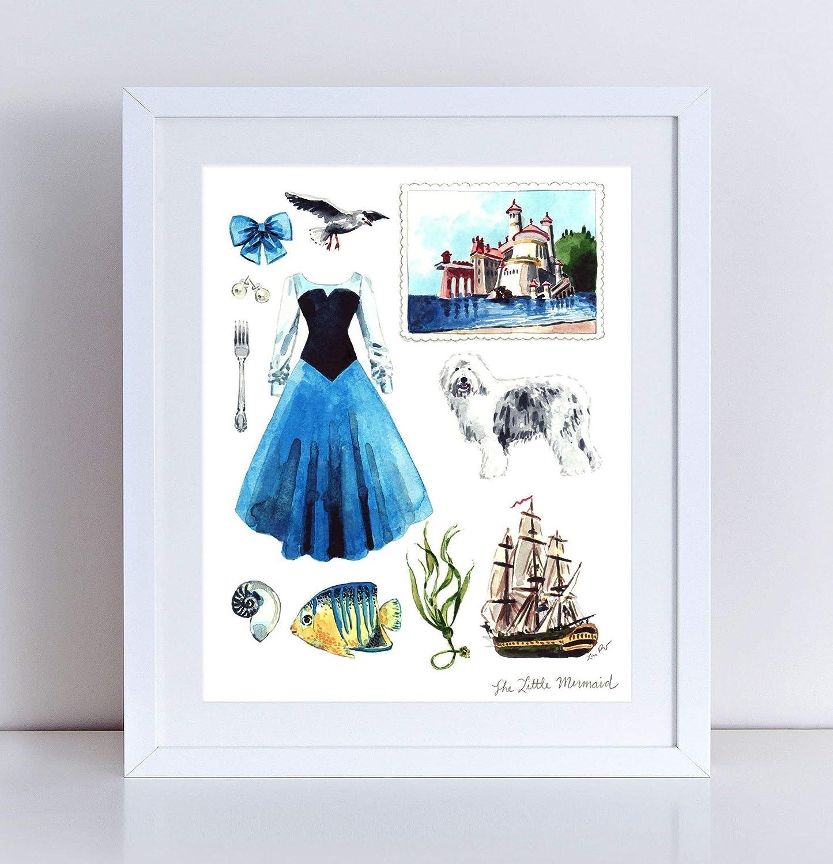 Amazoncom The Little Mermaid Ariel Collage Giclee Art Print