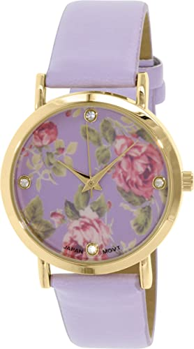 70e19d14e70f Ginebra platino mujeres de 9819. Forro. Oro morado piel cuarzo reloj  Geneva  Platinum  Amazon.es  Relojes