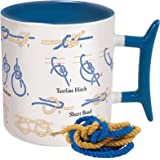 How To: Knots Coffee Mug - Learn How to Tie Eight Different Knots - Comes in a Fun Gift Box - by The Unemployed Philosophers Guild