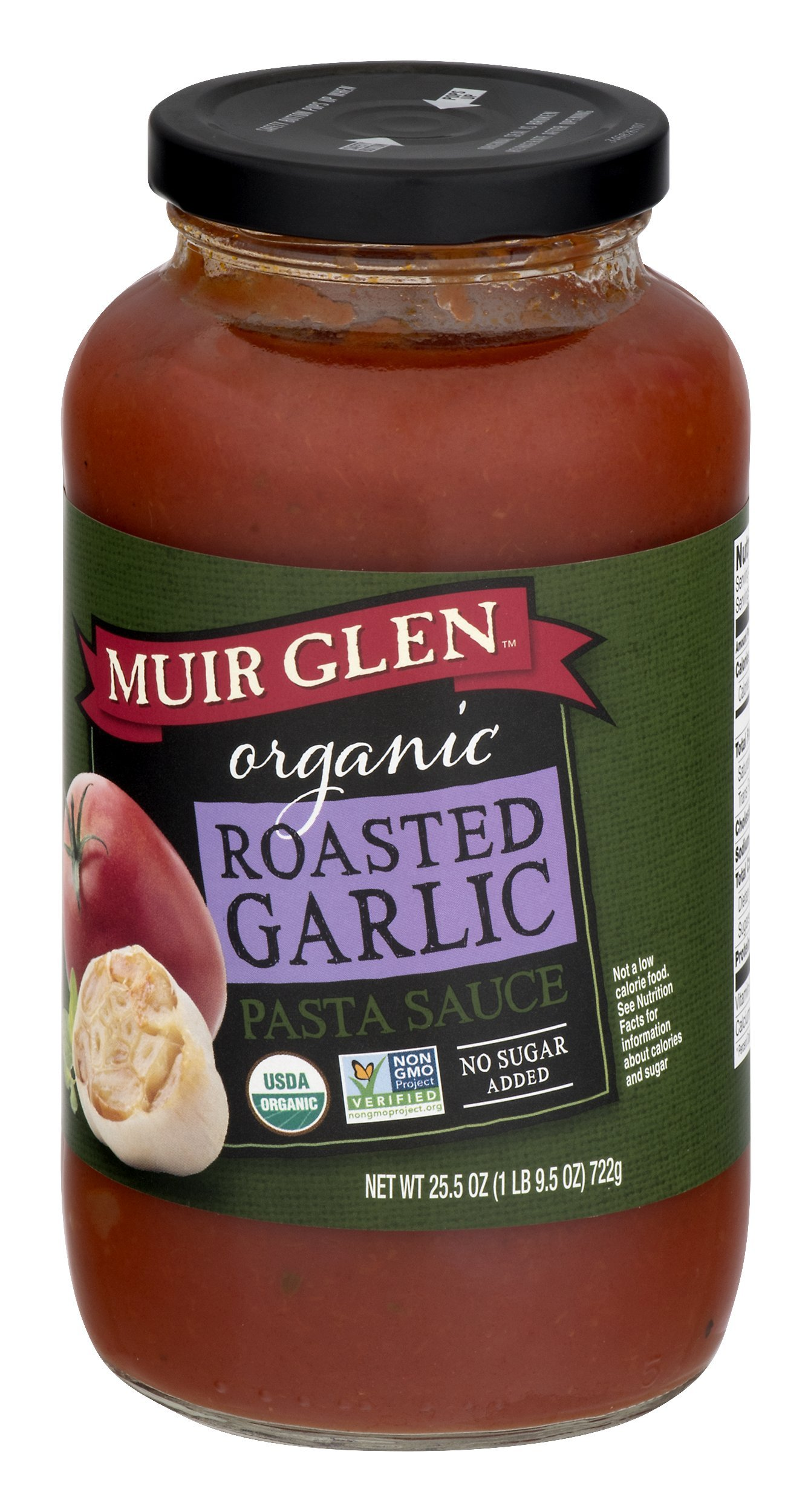 Muir Glen Organic Roasted Garlic Pasta Sauce, Fat Free, 25.5 oz