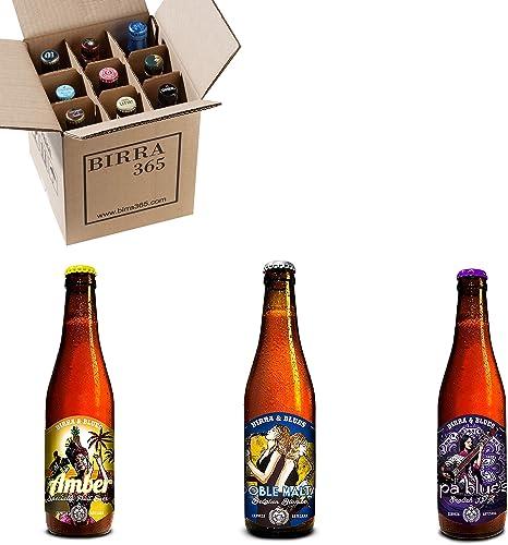 Caja degustación 9 cervezas artesanas Birra&Blues. La selección ...
