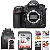 Nikon D850 Full Frame FX- Format Digital SLR Camera + 32GB Card + Backpack + Kit