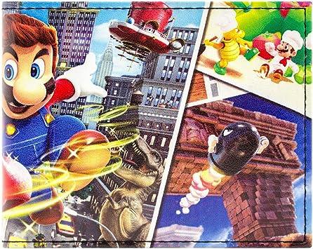 Cartera de Super Mario Odyssey Múltiples Mundos Negro: Amazon.es: Equipaje