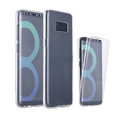 the latest 6aa1c 856b2 Samsung Galaxy S8 Case, Ordica UK®, Galaxy S8 360 Case Front and Back  Silicone Full Body Case Clear Full Coverage Protection Protective Cover  Ultra ...