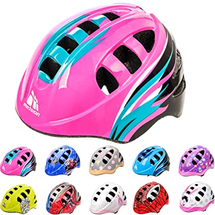 meteor Helmet For Baby Kids Toddler Childrens Boys Cycle Safety Crash Helmet Small Sizes For Child MTB Bike Bicycle Skateboard Scooter Hoverboard Riding Lightweight Adjustable Breathable