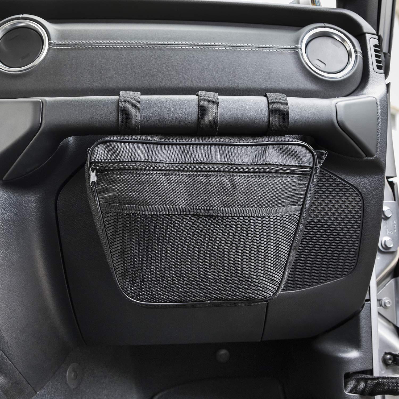 JL Opall Passenger Grab Handles UV Protected Polyester Dash Bag-Pouch Storage Bag for 1965-2019 Jeep Wrangler JK,TJ,YJ,CJ Black 4350406289