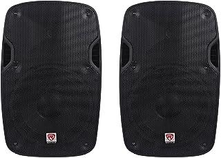2 Rockville Spgn154 15 Passive 1600w Dj Pa Speakers Lightweight Cabinet 4 Ohm