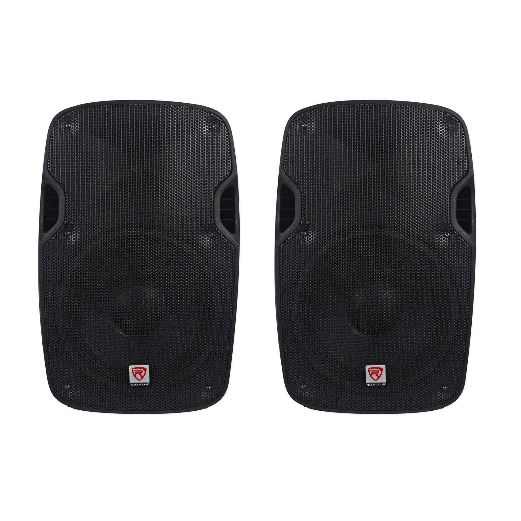(2) Rockville SPGN154 15'' Passive 1600W DJ PA Speakers Lightweight Cabinet 4 Ohm by Rockville