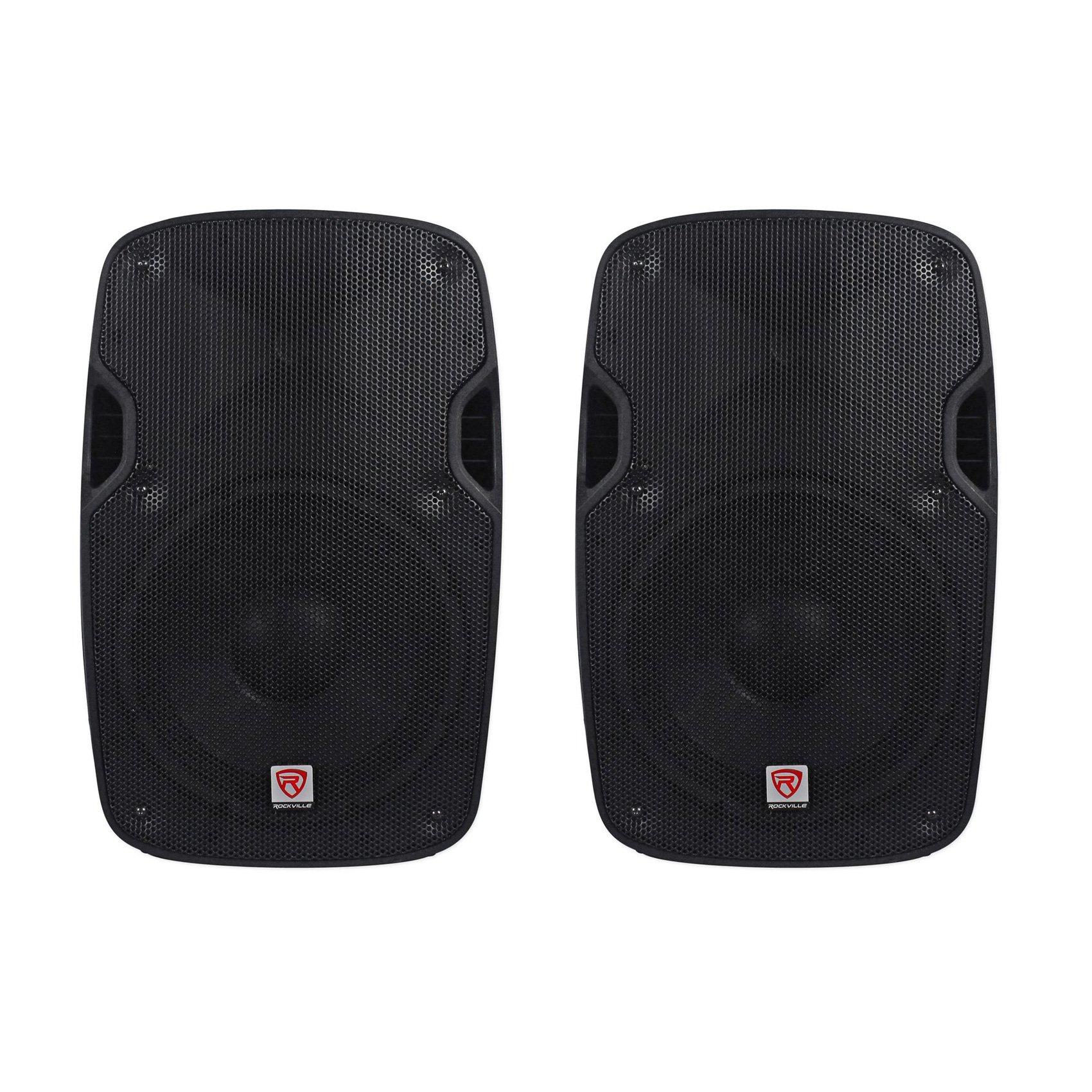 (2) Rockville SPGN154 15'' Passive 4-Ohm Lightweight DJ/PA Speakers Totaling 3200 Watt Peak With a 3'' Aluminum Voice Coil For Amazing Sound Clarity