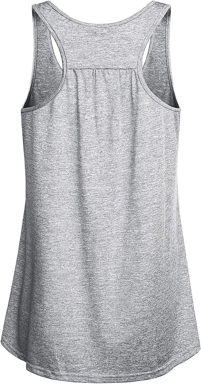 Miusey Womens Sleeveless Loose Fit Workout Yoga Racerback Tank Top