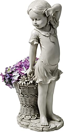 Design Toscano EU9294 Frances The Flower Girl Outdoor Garden Statue