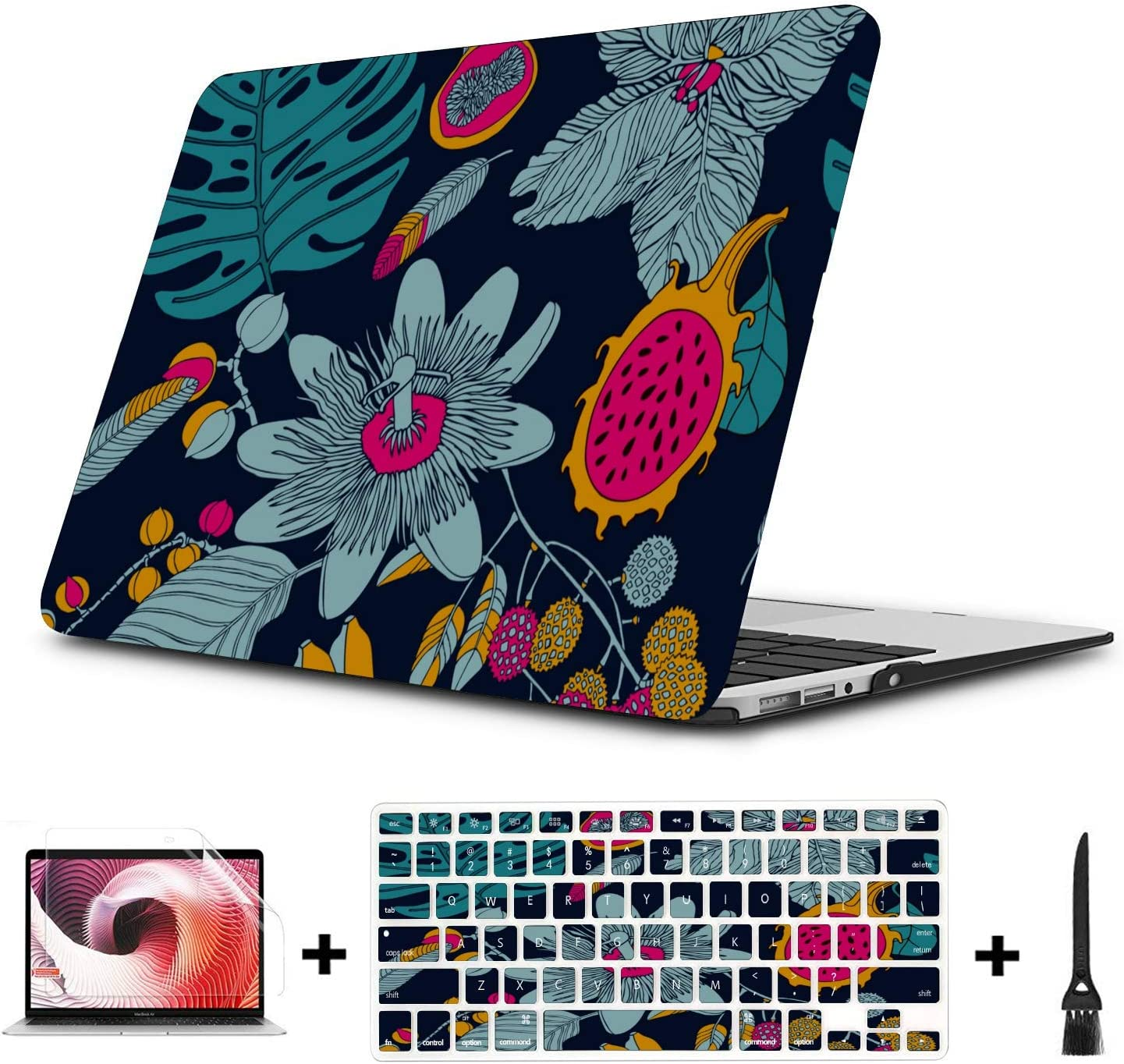 MacBook Pro 2017 Accessories Summer Fashion Fruit Dragon Love Plastic Hard Shell Compatible Mac Air 11 Pro 13 15 MacBook Air Protective Case Protection for MacBook 2016-2019 Version
