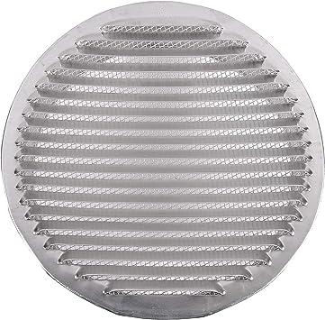 Tapa de rejilla de ventilación de aluminio circular Ø 200 mm (8