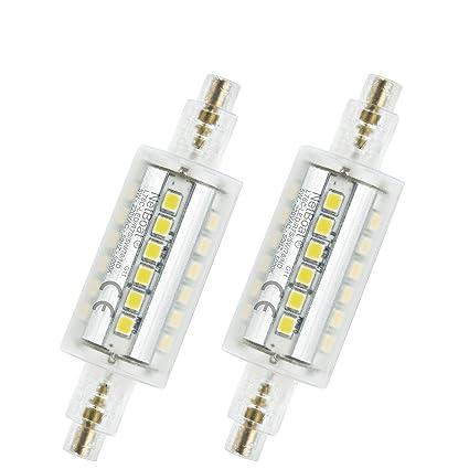 DASINKO Bombilla LED R7s 78 mm, 5 W LED Flood Spot iluminación luz blanco 5000