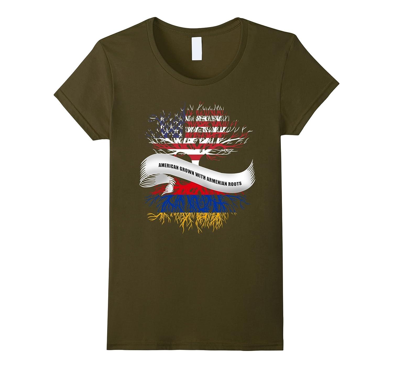 American Grown with Armenian Roots T-Shirt Armenia Tee