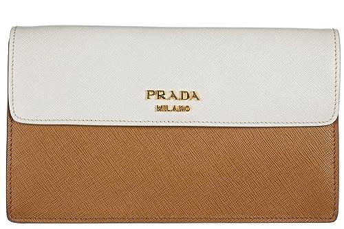 Prada bolso de mano pochette mujer en piel nuevo marrón: Amazon.es: Zapatos y complementos