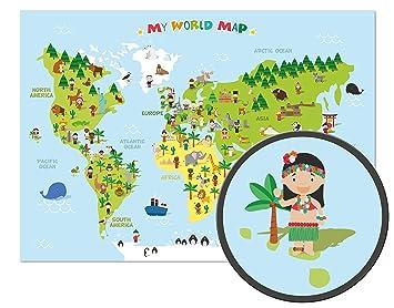weltkarte poster kinder ARTBAY Kinder Weltkarte   XXL Poster   118,8 x 84 cm   Weltkarte  weltkarte poster kinder