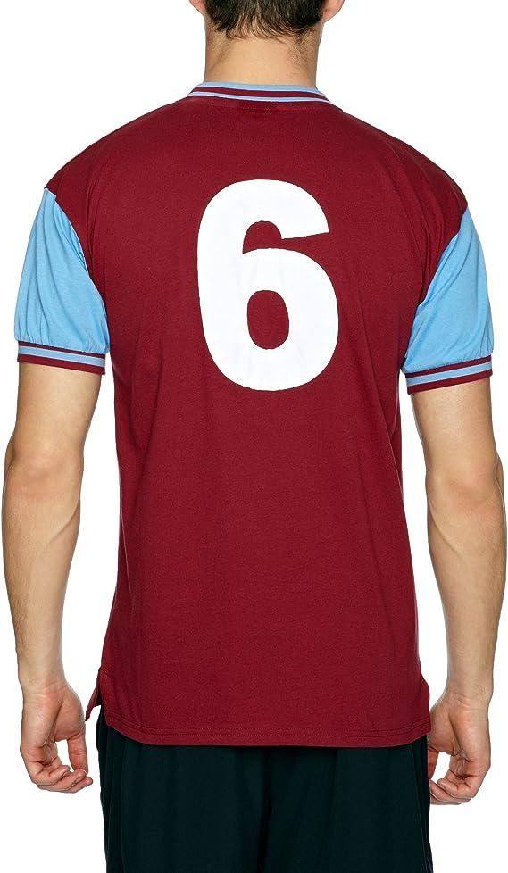 """/""""West Ham United 1966 No6 football sport tee shirt Top Shirt"""