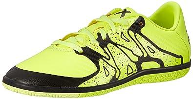 49e679d69 Adidas Kids X 15.3 In J Syellow Syello Cblack Indoor Soccer Shoe 4 Kids