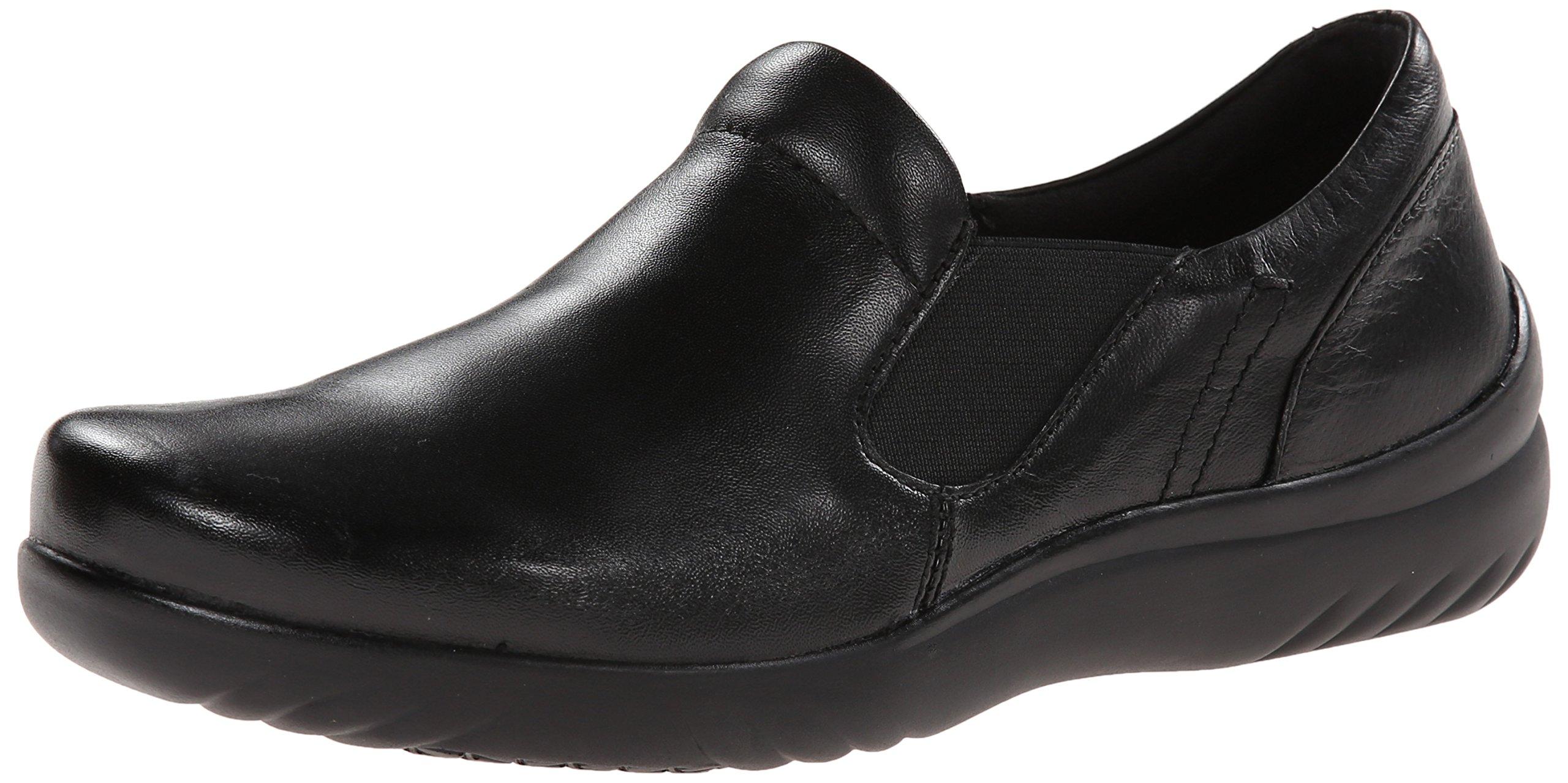 Klogs USA Women's Geneva Slip-On Shoe, Black Smooth, 6 M US