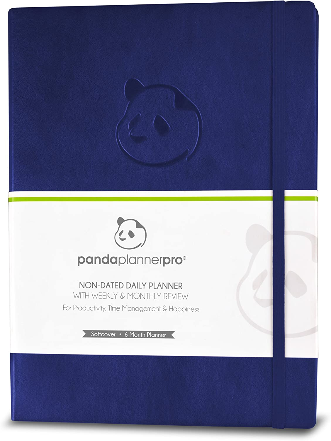 "Panda Planner Pro - Best Daily Planner for Happiness & Productivity - 8.5 x 11"" Softcover - Undated Day - Guaranteed to Get You Organized - Gratitude & Goals Journal (Purple)"