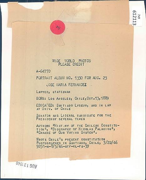 Amazon com: Vintage Photos 1946 Press Photo Politics Jose Maria