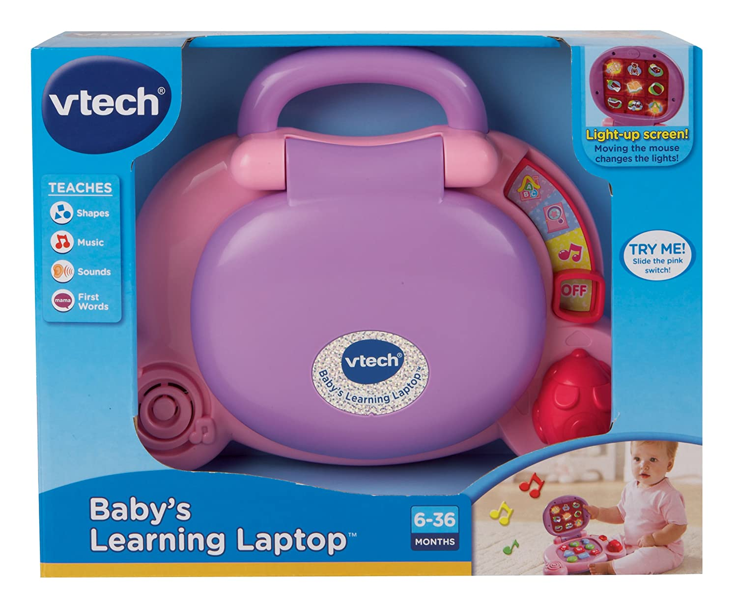 Blue VTech Babys Learning Laptop