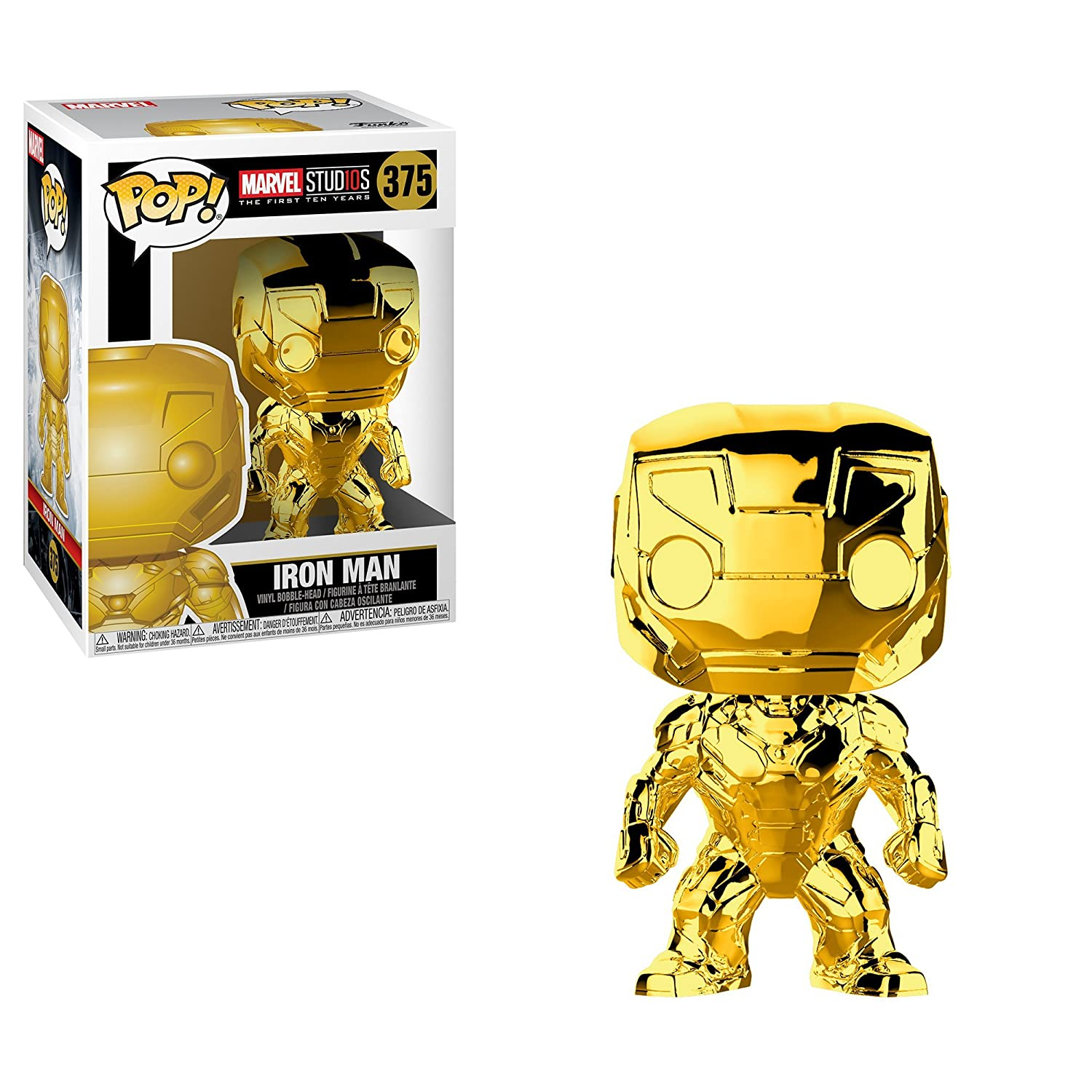 bb37b62cb80 Funko Pop Marvel Marvel Studios 10 - Iron Man (Gold Chrome ...