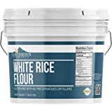 White Rice Flour (1 Gallon Bucket) by Earthborn Elements, Gluten Free Baking, Unbleached, Vegan, Fat Free, No Sodium…