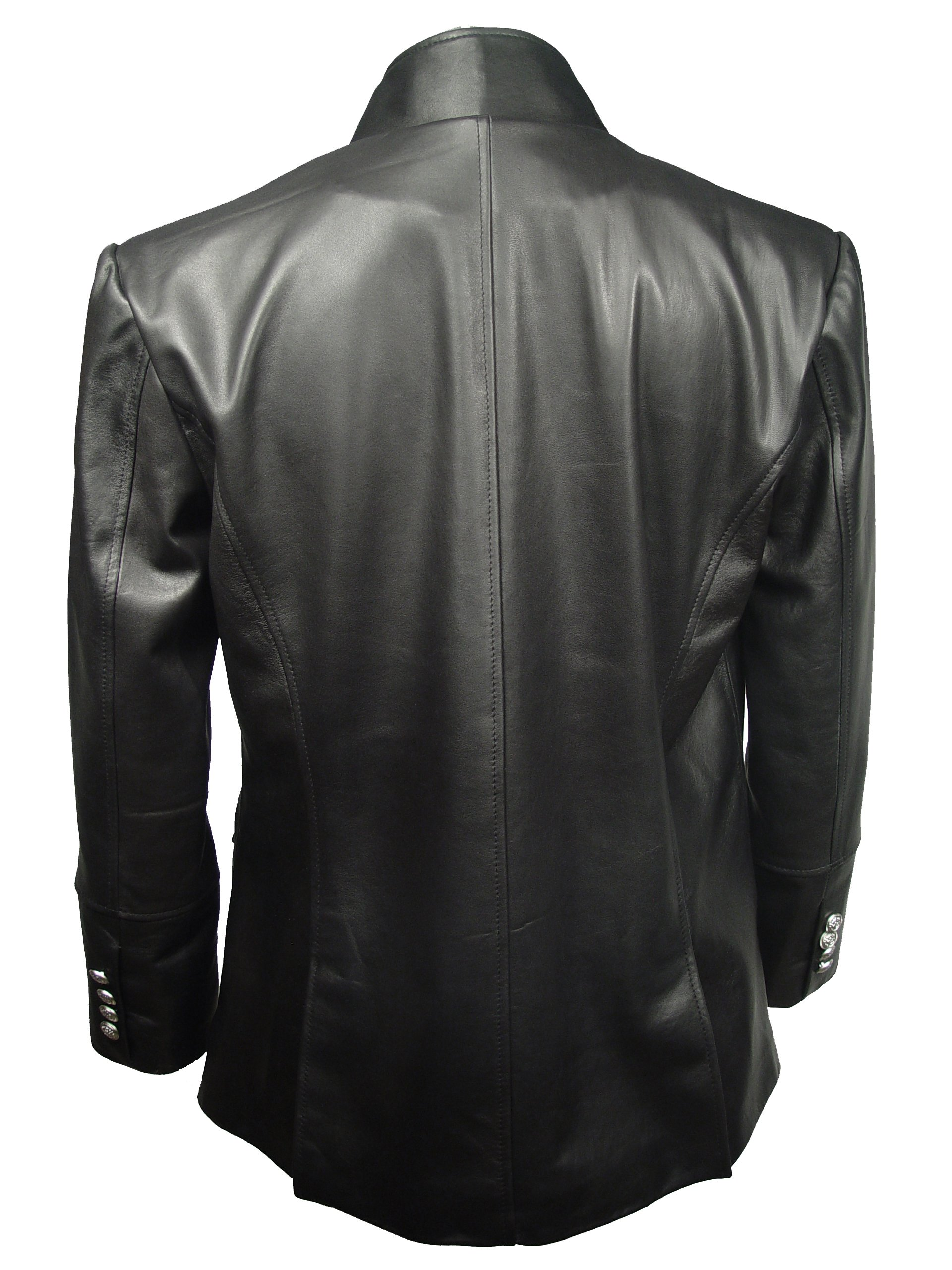 Nettailor 1095 Real Lamb Fine Leather Fitted Sports Blazer Pea Coat by NETTAILOR (Image #3)