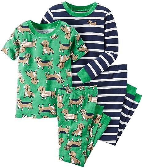 a20de6d5500b Amazon.com  Carter s Baby Boys  4-Piece Pj Set  Clothing