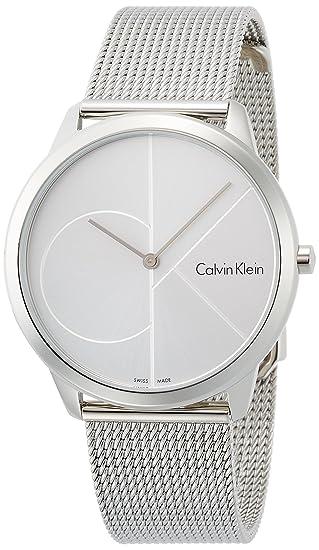 Calvin Klein Reloj Analogico para Hombre de Cuarzo con Correa en Acero Inoxidable K3M2112Z: Amazon.es: Relojes