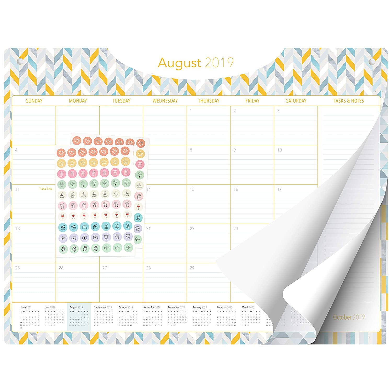 February 21st 2020 Jewish Calendar Amazon.: Desk Calendar 2019 2020   Large Monthly Planner   22