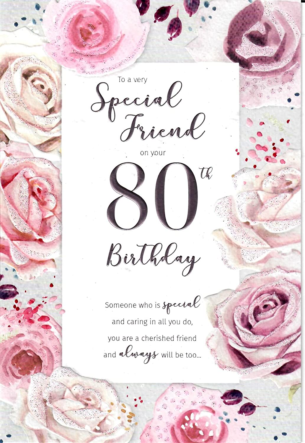Groovy Special Friend On Your 80Th Birthday Birthday Card Amazon Co Uk Funny Birthday Cards Online Inifodamsfinfo